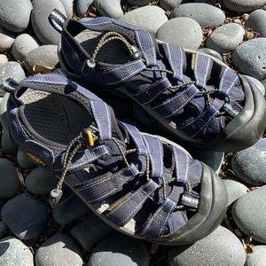Women's Navy Keen sandals